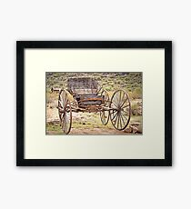 The Buckboard Bounce where West is West Framed Print