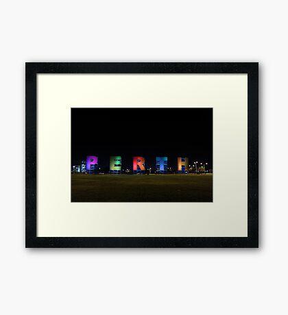 Perth Sign Framed Print