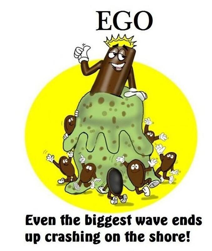 """EGO CARTOON QUOTE"" By InspireCartoons"
