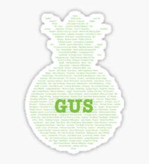 Gus's Nicknames (Psych) Sticker