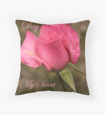 Happy Valentines Day My Sweet Love Throw Pillow