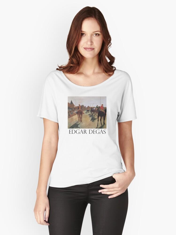 Edgar Degas: Race Horses Women's Relaxed Fit T-Shirt Front