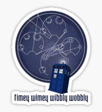 timey wimey wibbly wobbly Sticker