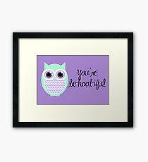 Owl-entine Card Framed Print