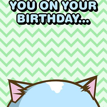 Fuzzballs I'm Watching You On Your Birthday Cat by rabbitbunnies
