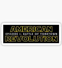 american revolution: battle of yorktown Sticker