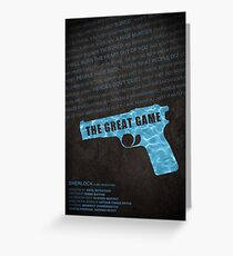 The Great Game fan poster Greeting Card