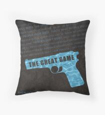 The Great Game fan poster Throw Pillow