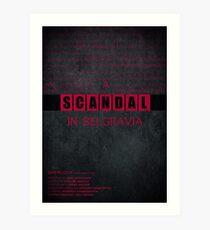 A Scandal in Belgravia fan poster Art Print