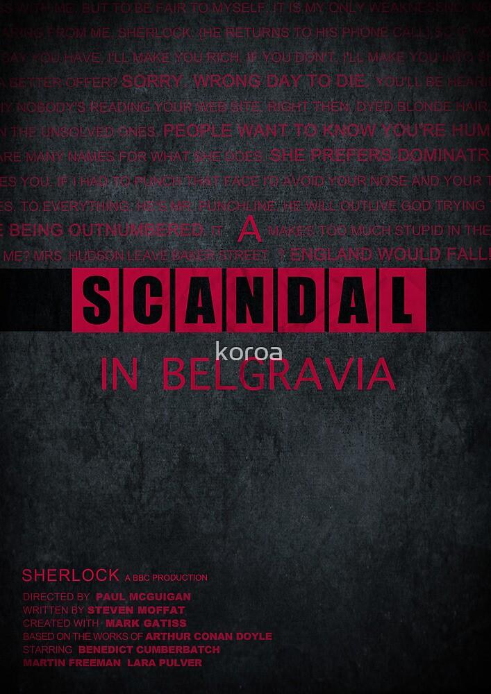 A Scandal in Belgravia fan poster by koroa