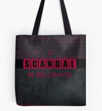 A Scandal in Belgravia fan poster Tote Bag