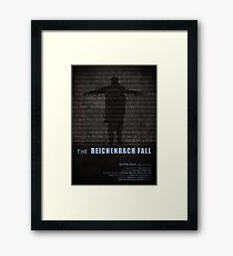 The Reichenbach Fall fan poster Framed Print