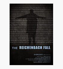 The Reichenbach Fall fan poster Photographic Print