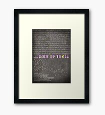 The Sign of Three fan poster Framed Print