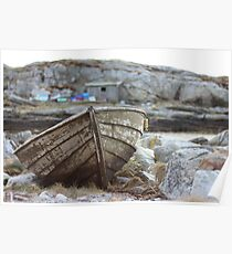 Abandoned boat Poster