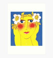 Blue-eyed Maiden with Flaxen hair Art Print