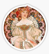 Alphonse Mucha: Art Nouveau Beauty Sticker