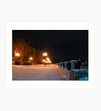 The row of night lights Art Print