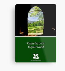 """National Trust """"open the door to your world"""" Metal Print"""