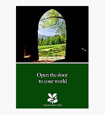 """National Trust """"open the door to your world"""" Photographic Print"""