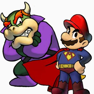 Super Mario and Bowser Luthor by Petertwnsnd