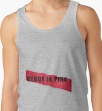 A Study in Pink fan poster Tank Top