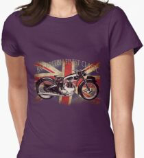 BSA British Finest Motorcycle Womens Fitted T-Shirt