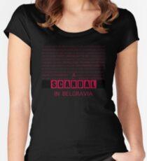 A Scandal in Belgravia fan poster Women's Fitted Scoop T-Shirt