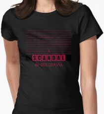A Scandal in Belgravia fan poster Womens Fitted T-Shirt