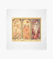 Alphonse Mucha: Art Nouveau Triptych Scarf
