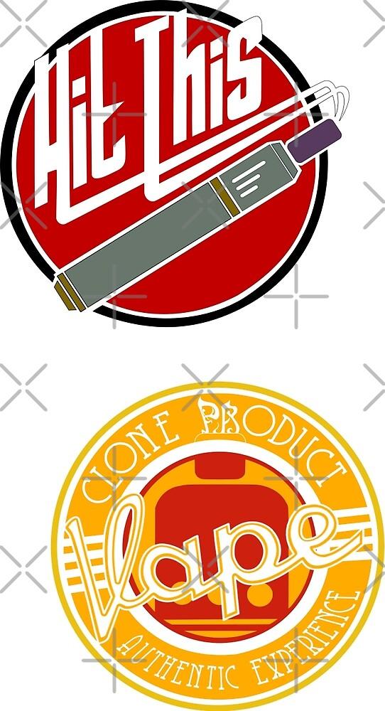 vape sticker 2 Pack by moonmorph