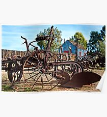 Antique Farm Equipment End of Row Poster