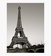 Eiffel Tower from the Seine, Paris Photographic Print