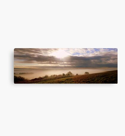 Waterhall Misty Panorama Canvas Print