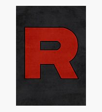 Team Rocket Logo Design Poster Pokemon Original Photographic Print