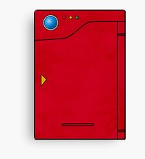 Pokedex Pokemon Design Dexter Canvas Print