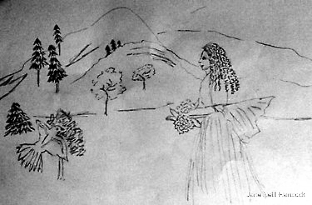 Pencil Sketch - The Arrival of Spring by Jane Neill-Hancock