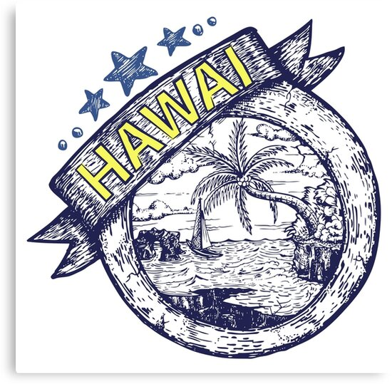 Hawai theme Hand draw illustration by djapart