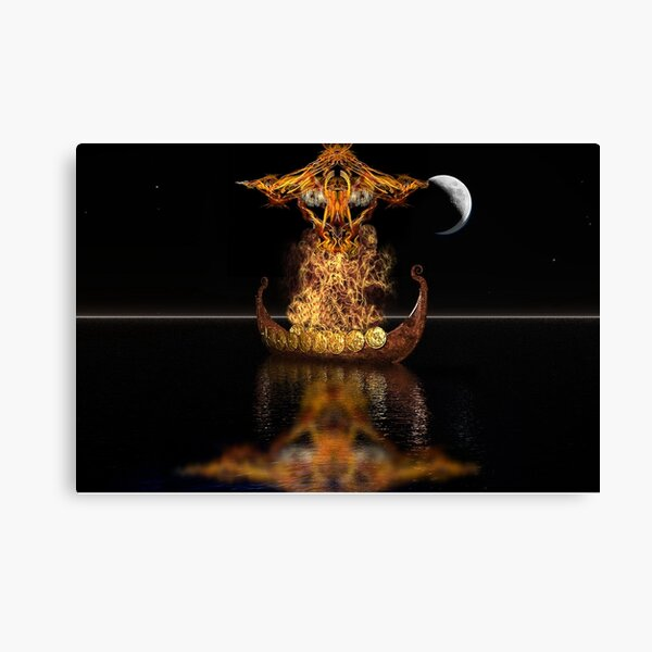Viking funeral Canvas Print