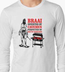 BRAAI SOUTH AFRICAN CAVE MAN Long Sleeve T-Shirt