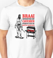 BRAAI SOUTH AFRICAN CAVE MAN Unisex T-Shirt