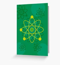 Modern Graphic Atomic Structure Greeting Card