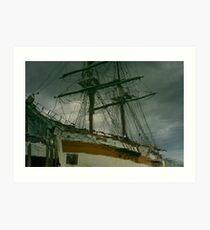 Reflections after a great sail-Hobart Art Print