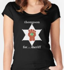 Hunter S Thompson, Gonzo Fist  Women's Fitted Scoop T-Shirt