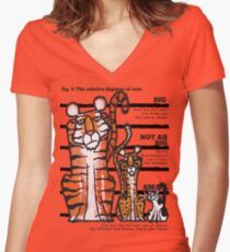 Bigness of cats top Women's Fitted V-Neck T-Shirt