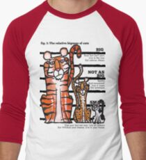 Bigness of cats top Men's Baseball ¾ T-Shirt