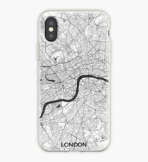 London Map Gray iPhone Case
