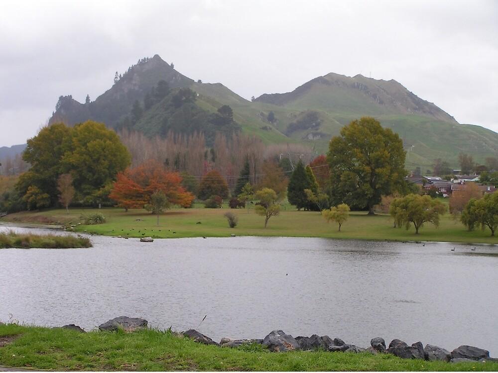 NZ lake by Pollysirena