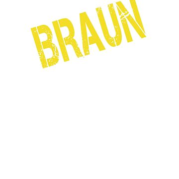 it is BRAUN thing you wouldn't understand by Bestselling