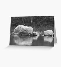 Echo Lake Reflection B&W Greeting Card